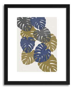 Fine art print Monstera Collage by artist Kerry Layton