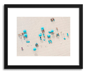 Fine art print Blue Umbrellas by artist Claudia Masco