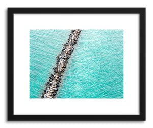 hide - Art print Jetty by artist Claudia Masco in natural wood frame