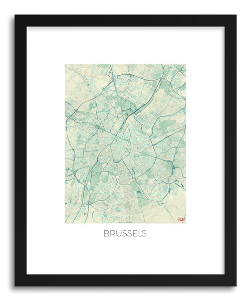 Art print Brussels by artist Hubert Roguski