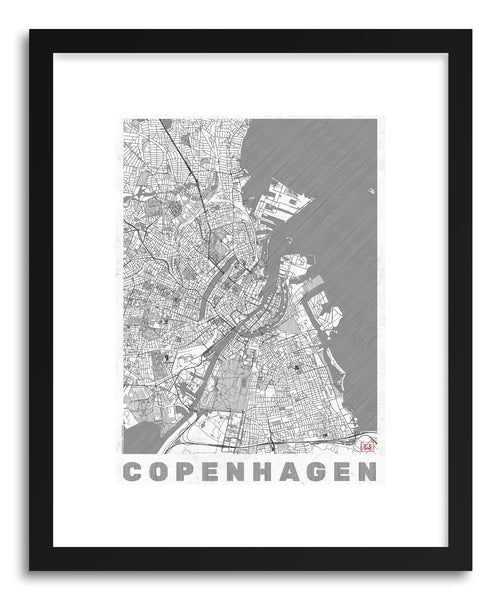 Art print DE Copenhagen by artist Hubert Roguski