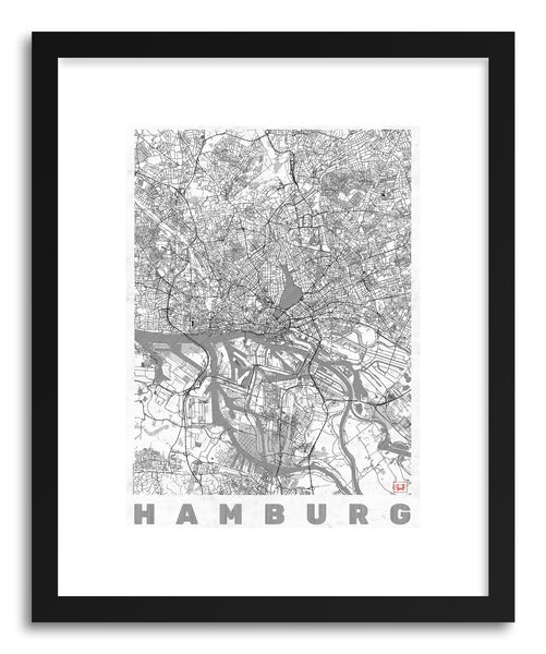 Art print GE Hamburg by artist Hubert Roguski