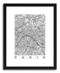hide - Art print LIFR Paris by artist Hubert Roguski in white frame