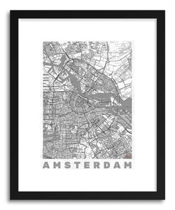 Art print NL Amsterdam by artist Hubert Roguski