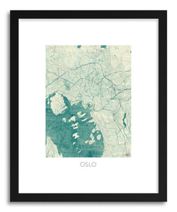 hide - Art print Oslo by artist Hubert Roguski in natural wood frame