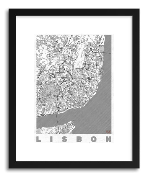 Art print PO Lisbon by artist Hubert Roguski