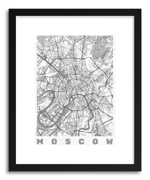 Art print RU Moscow by artist Hubert Roguski