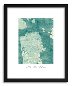 Art print San Francisco by artist Hubert Roguski