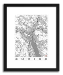 Art print SW Zurich by artist Hubert Roguski