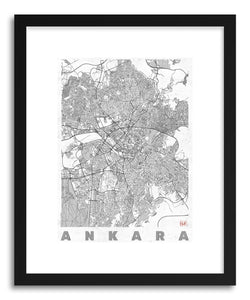 hide - Art print TU Ankara by artist Hubert Roguski in natural wood frame