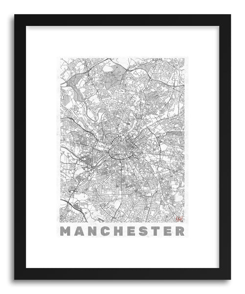 Art print UK Manchester by artist Hubert Roguski