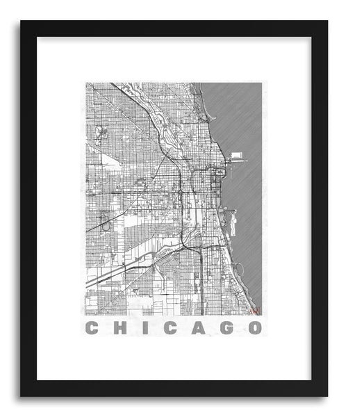 Art print US Chicago by artist Hubert Roguski