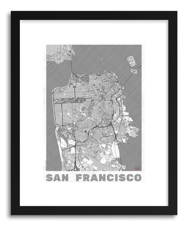 Art print US San Francisco by artist Hubert Roguski