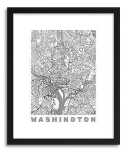 hide - Art print US Washington by artist Hubert Roguski in white frame