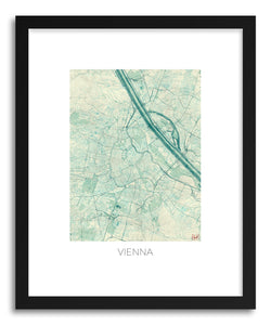 Art print Vienna by artist Hubert Roguski in black frame