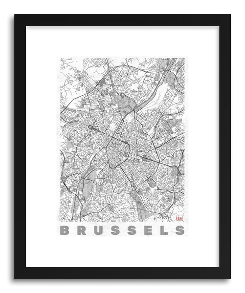 Art print BR Brussels by artist Hubert Roguski