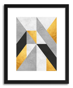 hide - Art print Gray and Gold Pattern I by artist Vitor Costa on fine art paper