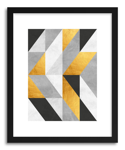 Fine art print Costa_Gray and Gold Pattern II by artist Vitor Costa