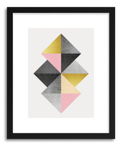 Art print Geometric and Golden by artist Vitor Costa