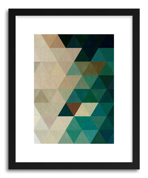 Art print Geometric and triangles by artist Vitor Costa