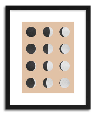 Art print Moon Phases by artist Vitor Costa