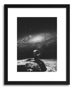 hide - Art print Pantheism by artist Fran Rodriguez in white frame