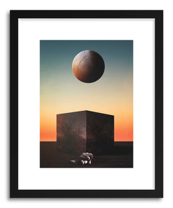 hide - Art print R Trip by artist Fran Rodriguez in white frame