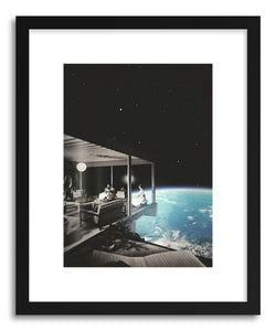 hide - Art print The View by artist Fran Rodriguez in white frame