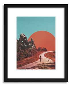 hide - Art print The Walk by artist Fran Rodriguez in white frame
