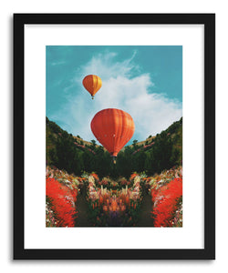 hide - Art print Hot Air by artist Fran Rodriguez in white frame