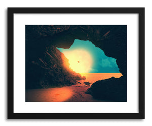 hide - Art print The Cave by artist Fran Rodriguez in natural wood frame