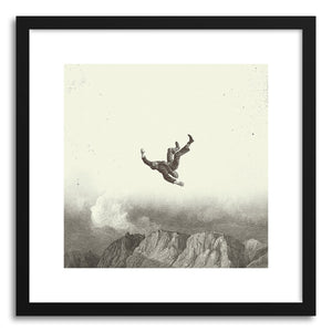 hide - Art print Falling by artist Fran Rodriguez in white frame