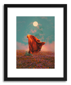 hide - Art print Fields by artist Fran Rodriguez in natural wood frame