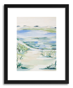 hide - Art Print By The Wate by artist Melody Joy McMunn in natural wood frame