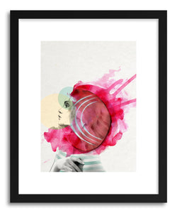 hide - Art Print Bright PInk no.1 by artist Jenny Liz Rome in white frame
