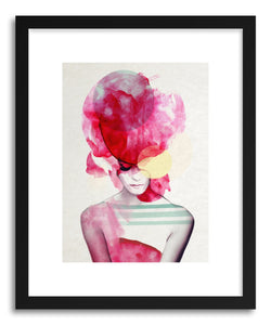 hide - Art Print Bright PInk no.2 by artist Jenny Liz Rome in white frame