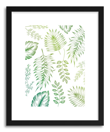 Fine art print Tropical Leaves by artist Barlena Hollaus