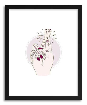 Fine art print FIngers Crossed by artist Barlena Hollaus
