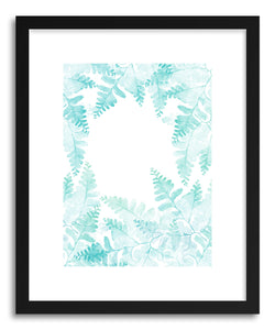 hide - Art Print Ferns Jungle by artist Rui Faria in natural wood frame