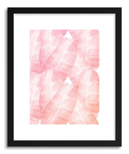 Fine art print Banana Leaves PInk by artist Rui Faria