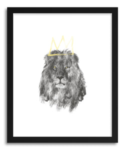 hide - Art Print Lion KIng by artist Rui Faria in natural wood frame