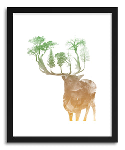 hide - Art Print Oh Deer by artist Rui Faria on fine art paper