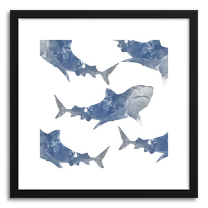 Fine art print The World This Full of Sharks by artist Rui Faria
