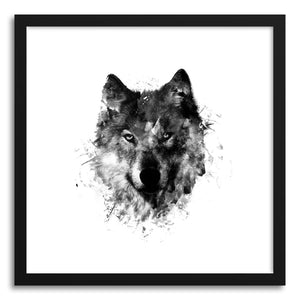 hide - Art Print Wolf Like Me by artist Rui Faria in natural wood frame