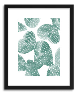 hide - Art Print Cacti Doots by artist Rui Faria in white frame