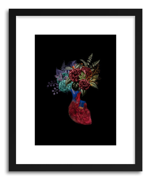 Fine art print Heart Flowers by artist Tania Amrein
