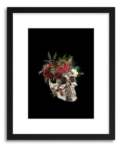 Fine art print Skull Flowers by artist Tania Amrein