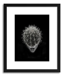 hide - Art Print Cactus by artist Tania Amrein in natural wood frame
