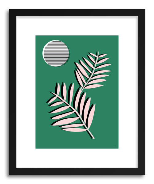 Fine art print Palm Leaves In Moonlight by artist Linda Gobeta