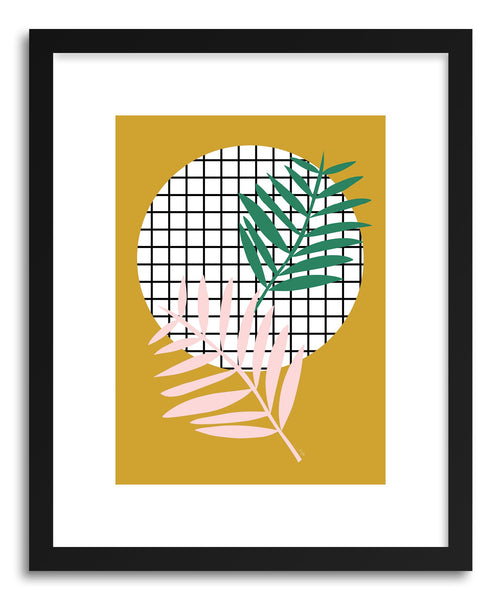 Fine art print Palm Leaves In Mustard by artist Linda Gobeta